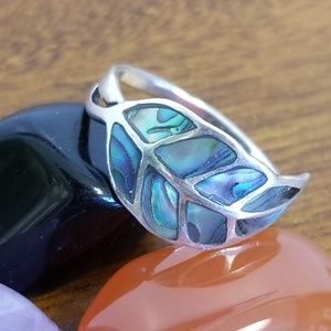 925 silver mother of pearl ring